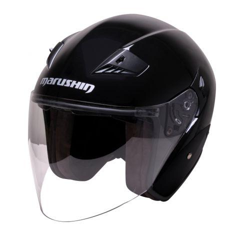 M-610 Open face-Jet helmet black